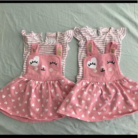 Twin girls matching dresses